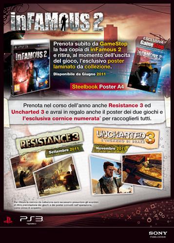 inFAMOUS 2: prenotalo da Gamestop per ricevere in regalo un esclusivo poster laminato