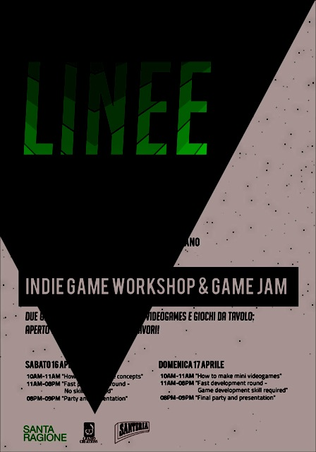 LUNARCADE FACTORY : LINEE, game jam indie il 16 e 17 Aprile a Milano
