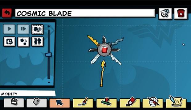 Scribblenauts Unmasked: un'immagine per il Cosmic Blade