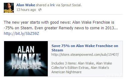 Il team di Alan Wake preannuncia novità nel 2013