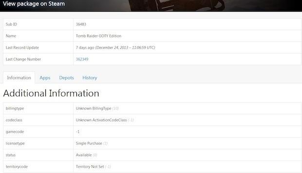 Tomb Raider: GOTY Edition avvistata su Steam