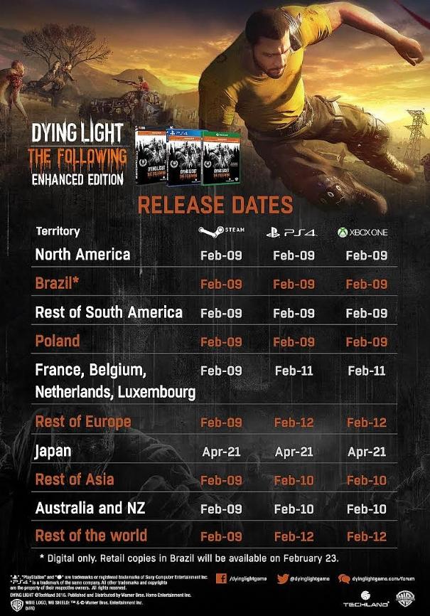 Dying Light: la versione originale sparirà dai negozi con l'arrivo della Enhanced Edition