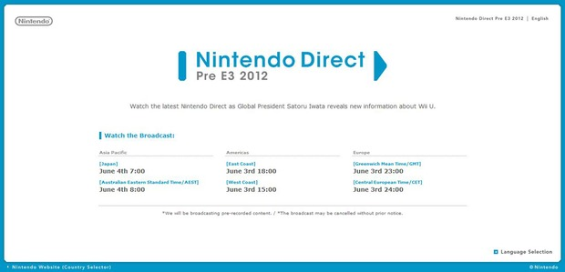 Wii U: Nintendo Direct a sorpresa domani a mezzanotte