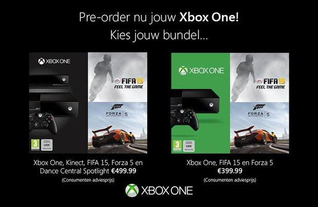 Xbox One: FIFA 15 e Forza Motorsport 5 in bundle per i nuovi paesi europei