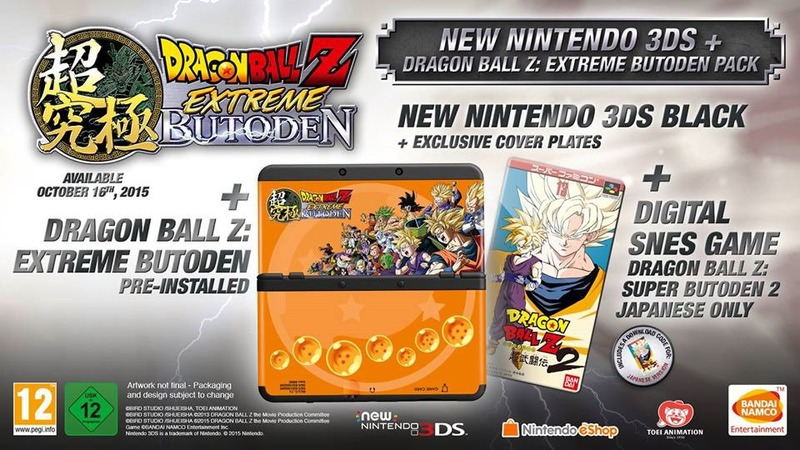 Bundle New Nintendo 3DS dedicato a Dragon Ball Z Extreme Butoden