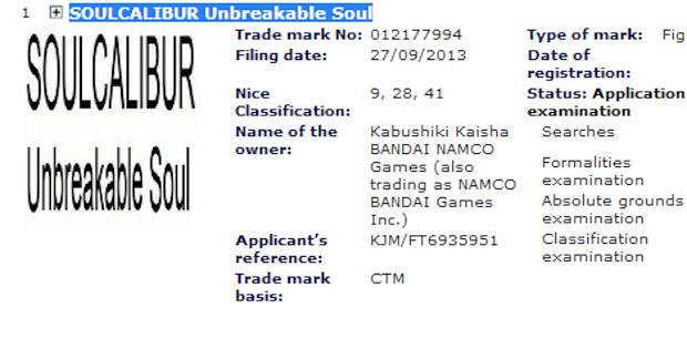 Namco-Bandai registra il marchio Soulcalibur: Unbreakable Soul