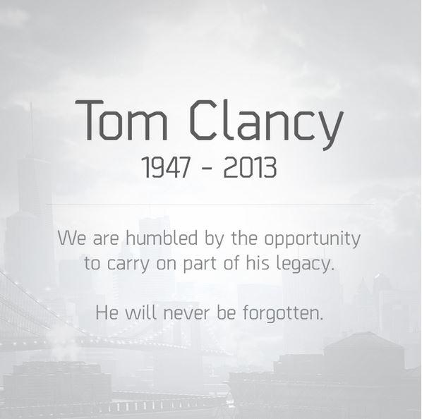 Muore lo scrittore Tom Clancy all'età di 66 anni