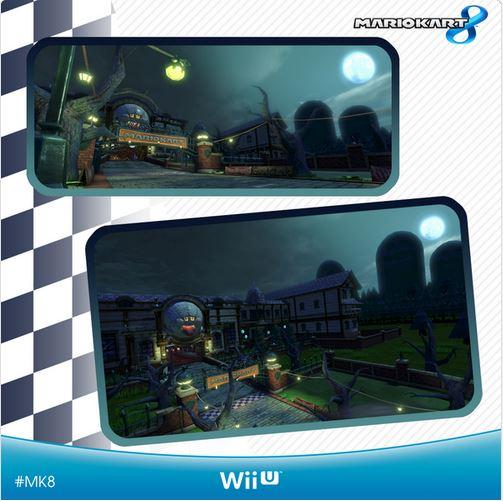 Mario Kart 8: il circuito 'Twisted Mansion' si mostra in immagini