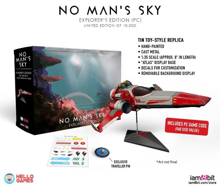 No Man's Sky: L'Explorer's Edition include una navetta in metallo