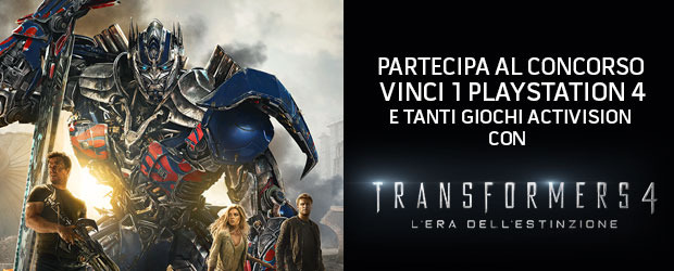 Vinci una Playstation 4 con TRANSFORMERS 4 - L'ERA DELL'ESTINZIONE - Notizia