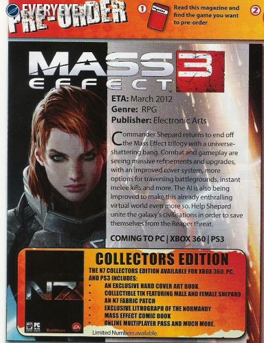 [Report] Mass Effect 3 disporrà dell'online pass per il multiplayer