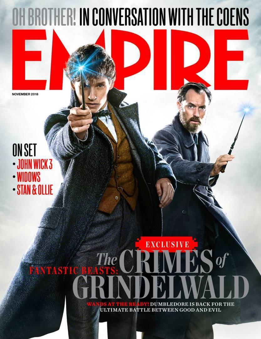 Animali Fantastici 2: I Crimini di Grindelwald, la splendida cover di Empire Magazine!