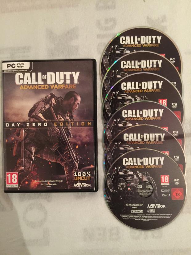 Call of Duty Advanced Warfare per PC: ben sei DVD per la versione retail