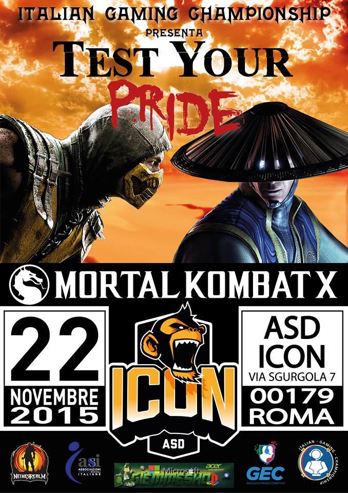 Test Your Pride: torneo di Mortal Kombat X a Roma il 22 novembre