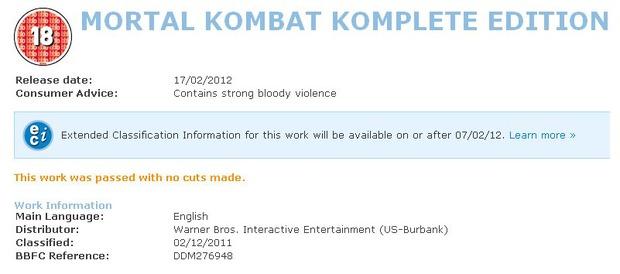 Un nuovo indizio sulla Mortal Kombat Komplete Edition