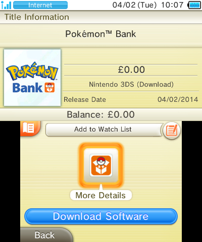 Pokemon Bank disponibile in Europa