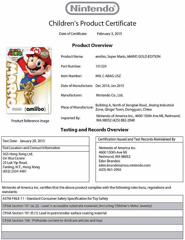 Amiibo: avvistate due speciali statuine di Super Mario