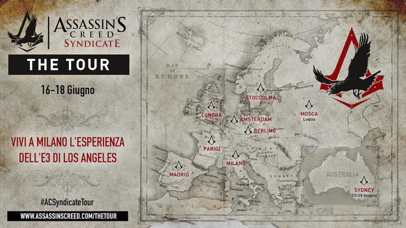 Assassin's Creed Syndicate giocabile in anteprima a Milano dal 16 al 18 giugno