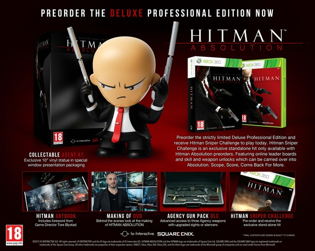 Hitman Absolution: annunciata la Deluxe Professional Edition