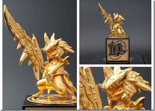 Monster Hunter: Capcom festeggia i 10 anni della serie con una statuina d'oro
