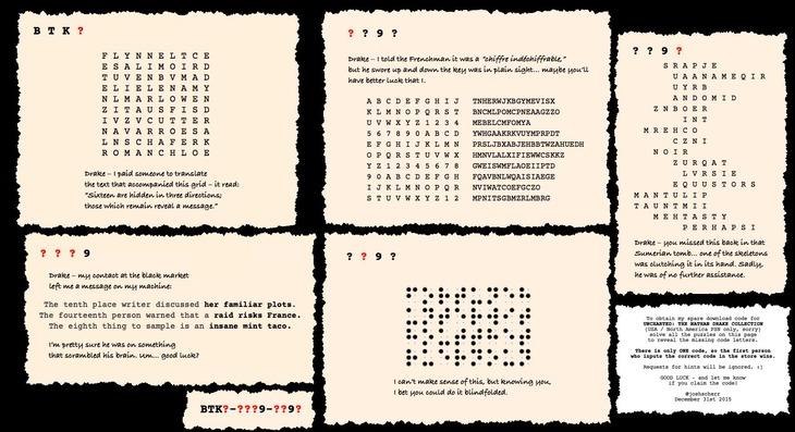Uncharted 4: uno scrittore della serie ha creato un puzzle a tema