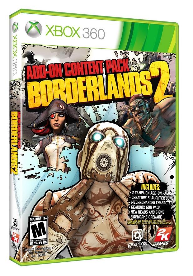 Borderlands 2: annunciato l'Add-On Pack nei negozi USA a fine Febbraio