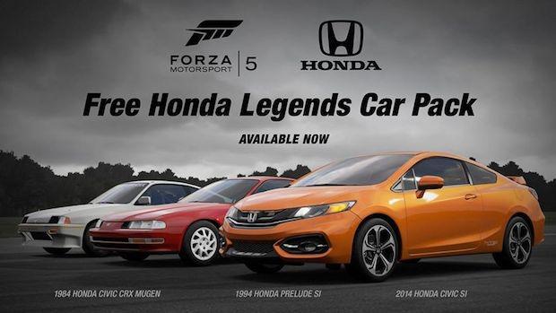 Forza Motorsport 5: disponibile il DLC Honda Legends Car Pack