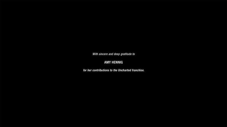 Uncharted 4: ringraziamento speciale a Amy Hennig nei crediti finali