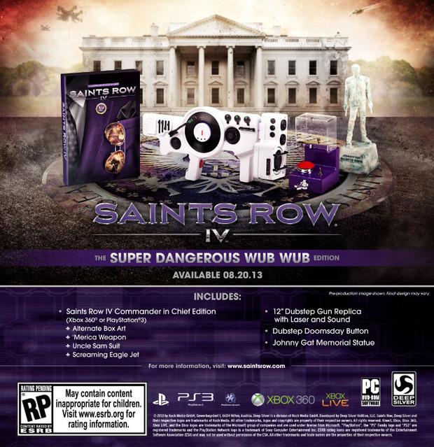 Saints Row 4: annunciata la Collector's Edition ' Super Dangerous Wub Wub'