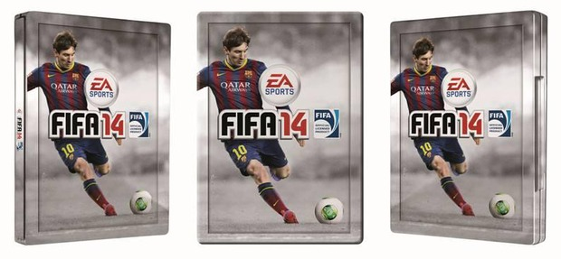 FIFA 14: le prime immagini della steelbook di Messi