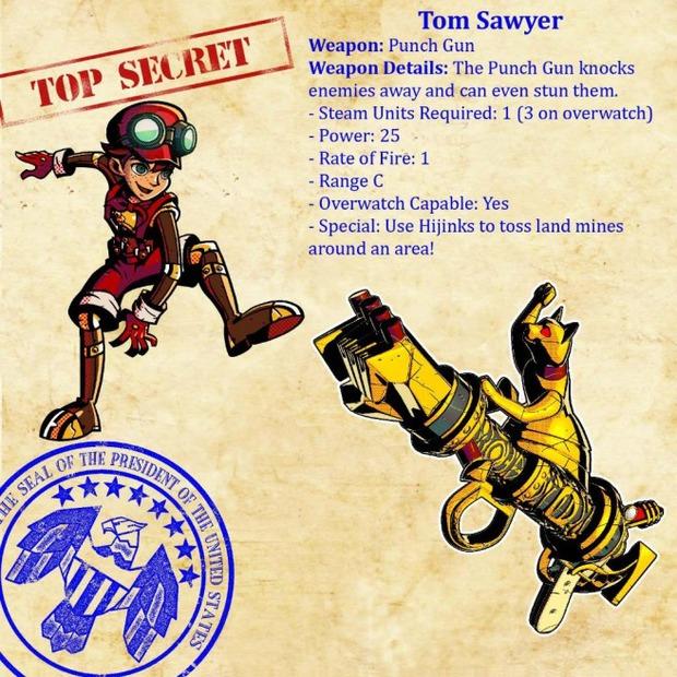 Codename S.T.E.A.M.: la scheda di Tom Sawyer