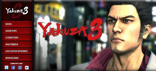 Yakuza 3, il sito ufficiale è online