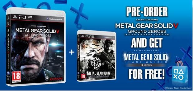 MGS V: Ground Zeroes: Peace Walker HD in regalo a chi prenota la versione PS3 sul PSN