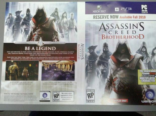 Assassin's Creed: Brotherhood, trapelata una copertina Gamestop