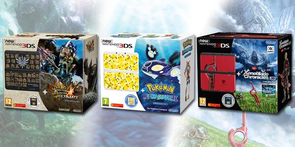Annunciati tre bundle New 3DS dedicati a Pokemon, Monster Hunter e Xenoblade Chronicles