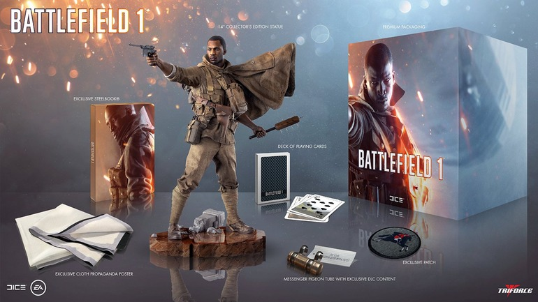 Battlefield 1: la Collector's Edition include una statuina e un mazzo di carte