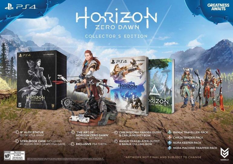 Horizon Zero Dawn avrà una Collectors Edition da 120 Dollari