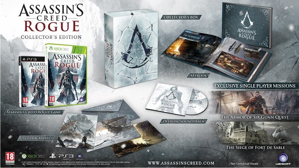 Assassin's Creed Rogue: annunciata la collector's edition