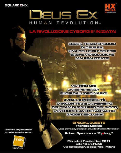 Deus Ex Human Revolution: domani 7 Settembre evento speciale alla Fnac di Milano