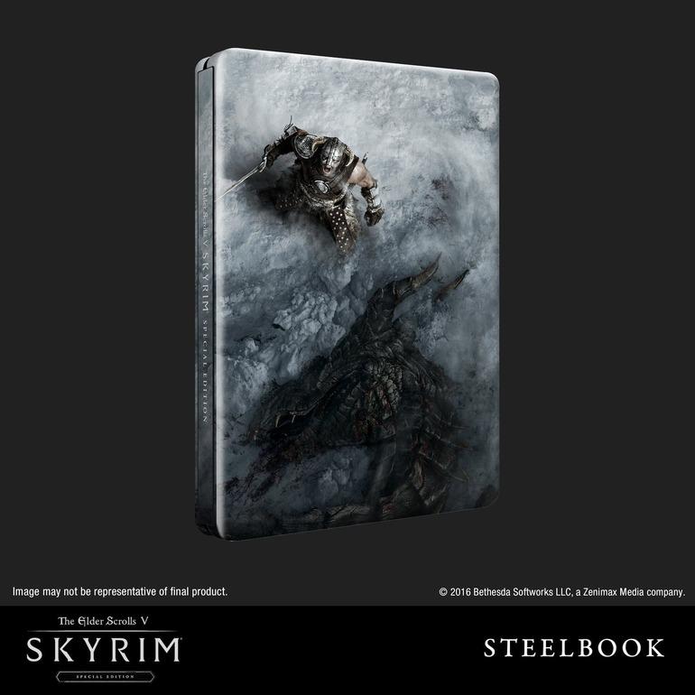 Svelata l'edizione Steelbook di Skyrim Remastered