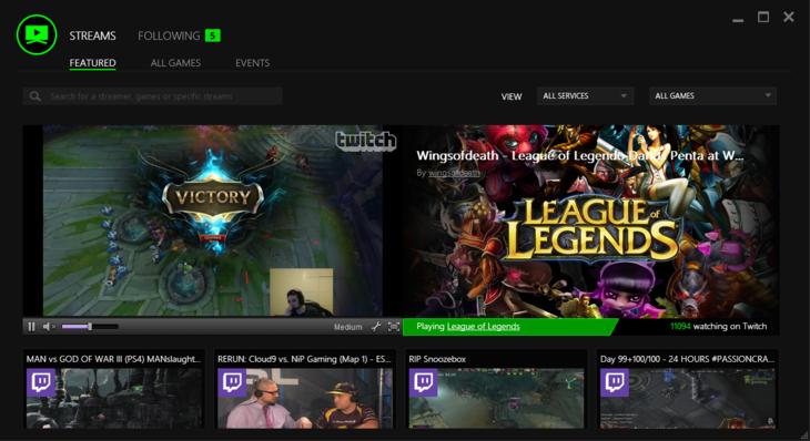 Razer Comms: il nuovo Stream Viewer comprende il tournament tracker per gli eSports