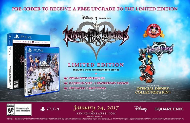 Annunciata la Limited Edition di Kingdom Hearts 2.8 HD Final Chapter Prologue