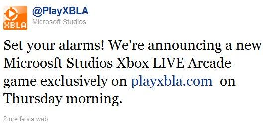 Microsoft Studios annuncerà un nuovo Xbox Live Arcade giovedì prossimo