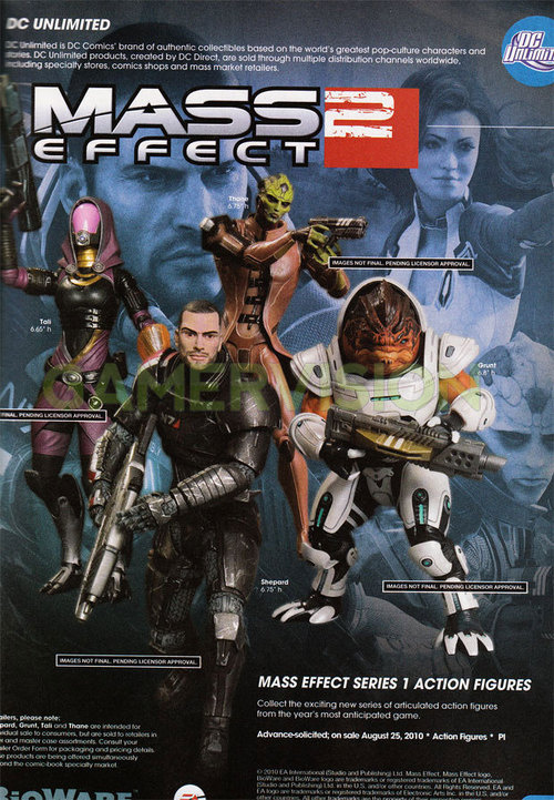 Annunciate le action figures di Mass Effect 2