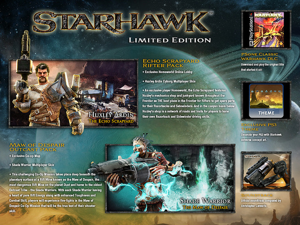 Starhawk: negli USA confermata una limited edition