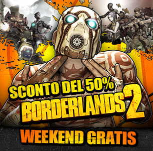 Borderlands 2: weekend di gioco gratis su Steam