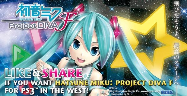 SEGA chiede il supporto dei fan per portare Hatsune Miku: Project Diva F per PS3 in Europa