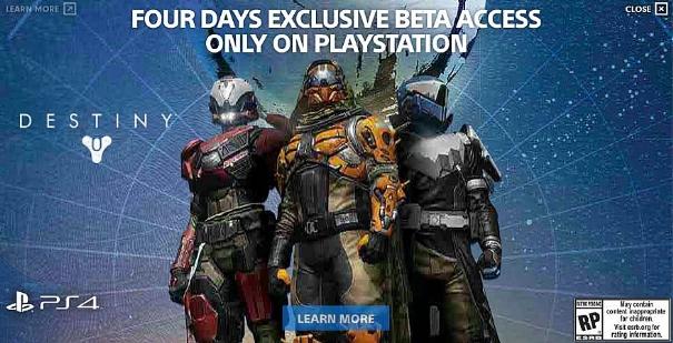 Destiny: la beta partirà con quattro giorni di anticipo sulle console Sony?