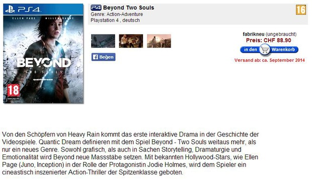 Beyond: Due Anime, altre conferme per la versione PlayStation 4