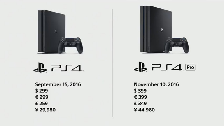 PS4 Pro esce a novembre al prezzo di 399 euro